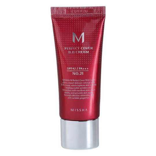 BB-крем Missha M Perfect Cover BB Cream SPF 42 PA+++ 20 мл (21, 23 тон)