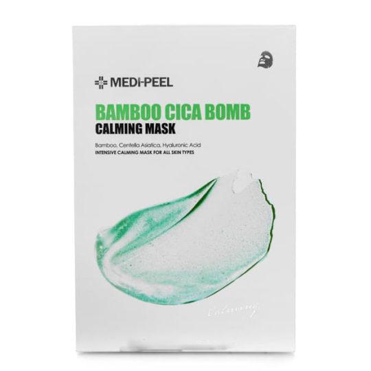 Успокаивающая маска с центеллой и бамбуком MEDI-PEEL Bamboo Cica Bomb Calming Mask