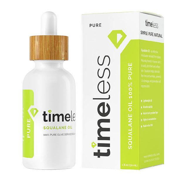 Натуральный сквалан для лица Timeless Skin Care Squalane 100% Pure