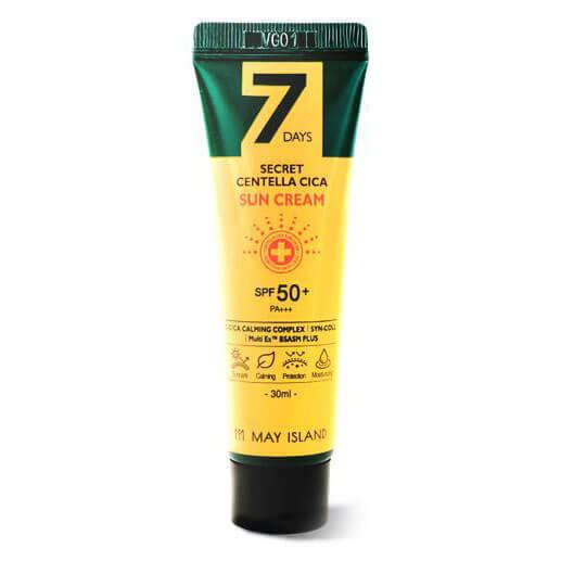 Солнцезащитный крем с центеллой May Island 7 Days Secret Centella Cica Sun Cream SPF 50