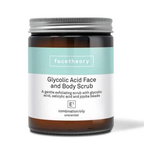 Мягкий скраб для лица с кислотами и гранулами жожоба Facetheory Glycolic Face Scrub E1