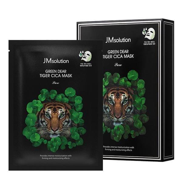 Регенерирующая маска для лица с центеллой JMsolution Green Dear Tiger Cica Mask