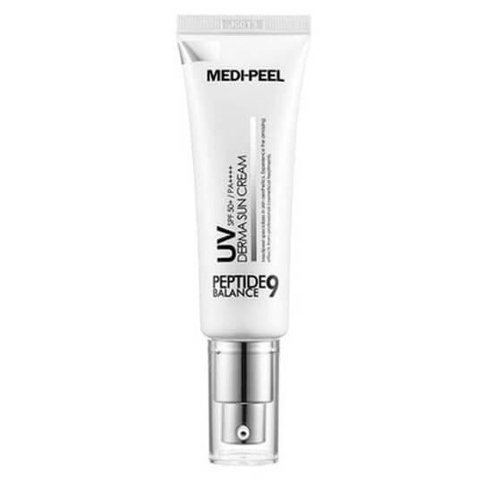 Солнцезащитный крем с пептидным комплексом Medi-Peel Peptide 9 UV Derma Sun Cream SPF50