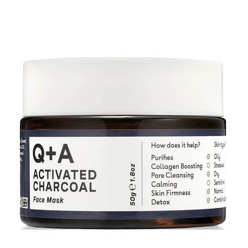 Очищающая маска для лица с углем и глиной Q+A Activated Charcoal Face Mask