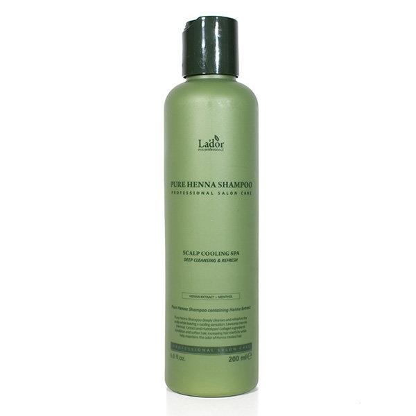 Укрепляющий шампунь с экстрактом хны и коллагеном Lador Pure Henna Shampoo