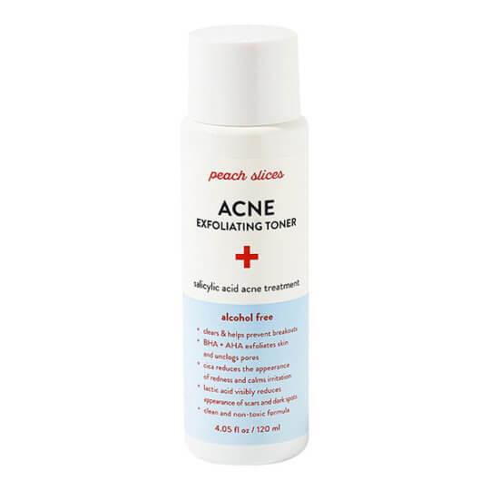Отшелушивающий тоник с ВНА и АНА кислотами Peach Slices Acne Exfoliating Toner