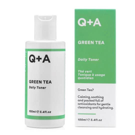 Успокаивающий тонер с зеленым чаем Q+A Green Tea Daily Toner